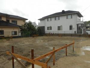 二つ庭の家