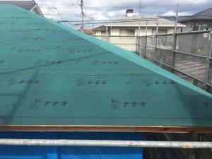 屋根 撫川の家
