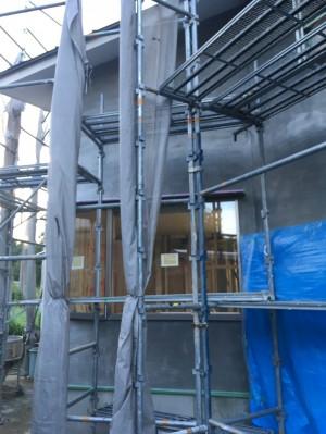 田井の家 外壁下塗り