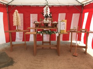 邑久町の家 地鎮祭