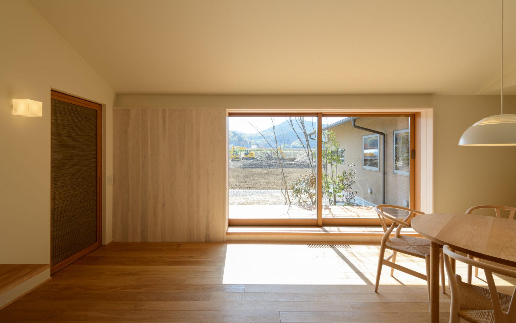真備町の家Ⅱ L字型のセミコートハウス型の平屋