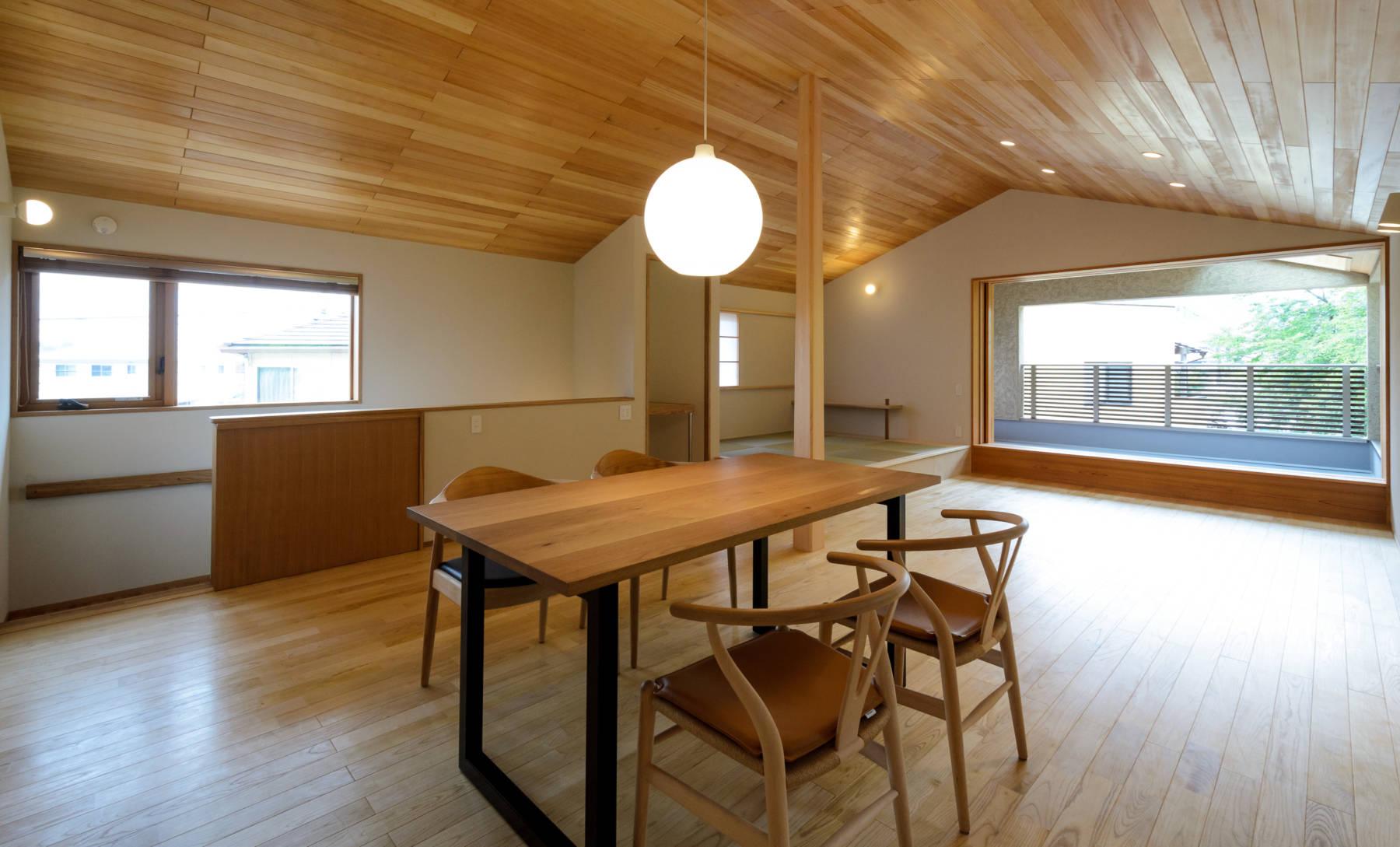 倉敷羽島の家 2階リビング+アウトドアリビング